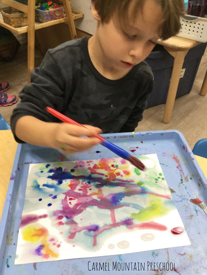Carmel Mountain Preschool Watercolor Silhouettes